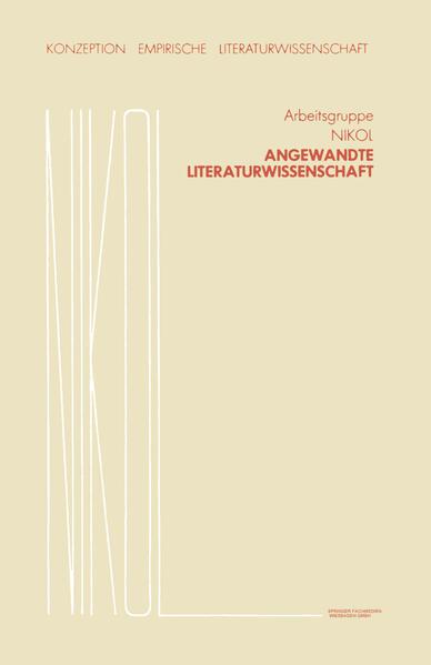 Angewandte Literaturwissenschaft - Coverbild