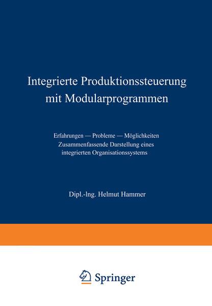 Integrierte Produktionssteuerung mit Modularprogrammen - Coverbild