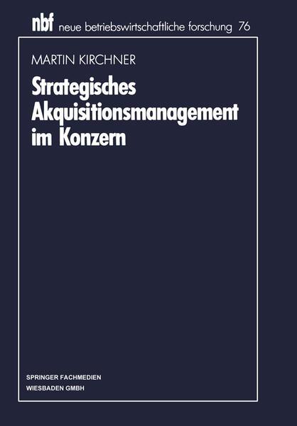 Strategisches Akquisitionsmanagement im Konzern - Coverbild
