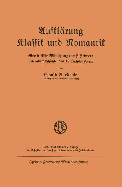 Aufklärung Klassik und Romantik - Coverbild