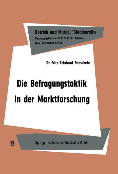 Die Befragungstaktik in der Marktforschung - Coverbild