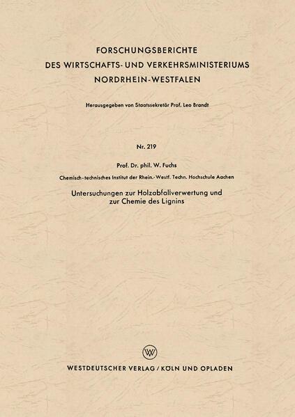 Untersuchungen zur Holzabfallverwertung und zur Chemie des Lignins - Coverbild