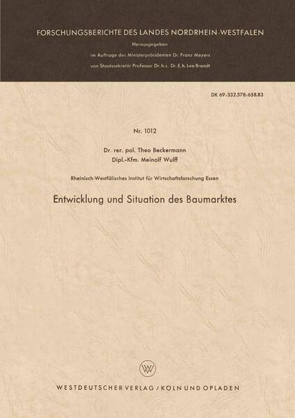 Entwicklung und Situation des Baumarktes - Coverbild