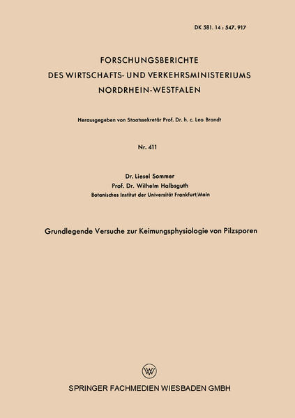 Grundlegende Versuche zur Keimungsphysiologie von Pilzsporen - Coverbild