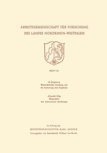 Wissenschaftliche Forschung und die Auswertung ihrer Ergebnisse. Wissenschaft und internationale Beziehungen - Coverbild