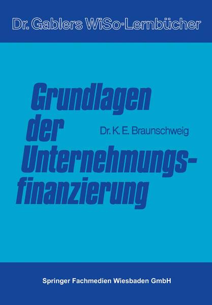 Grundlagen der Unternehmungsfinanzierung - Coverbild