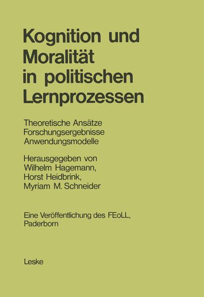 Kognition und Moralität in politischen Lernprozessen - Coverbild