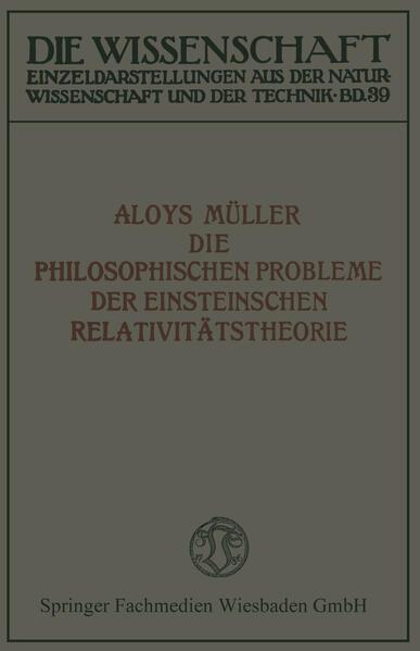 Die philosophischen Probleme der Einsteinschen Relativitätstheorie - Coverbild