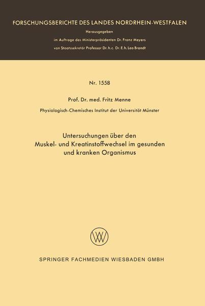 Untersuchungen über den Muskel- und Kreatinstoffwechsel im gesunden und kranken Organismus - Coverbild