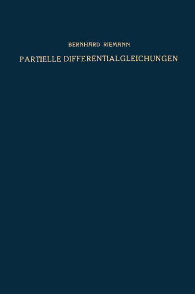 Partielle Differentialgleichungen und ihre Anwendungen auf physikalische Fragen - Coverbild
