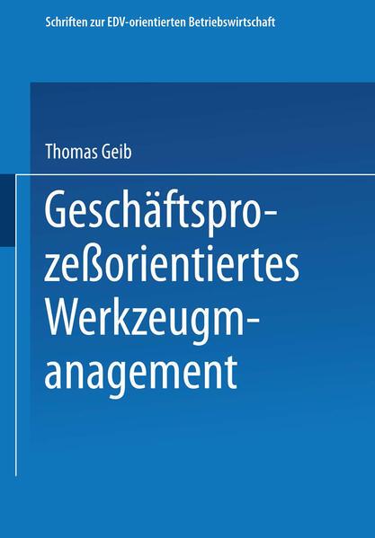 Geschäftsprozeßorientiertes Werkzeugmanagement - Coverbild
