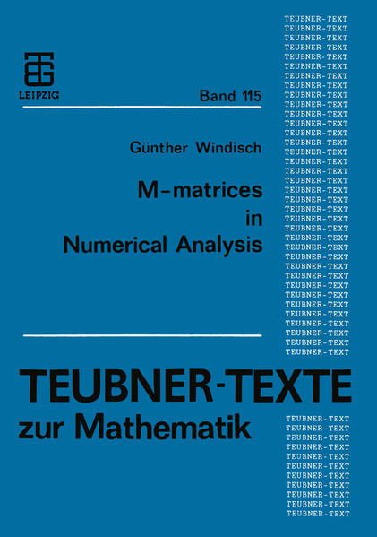 M-matrices in Numerical Analysis - Coverbild