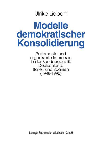 Modelle demokratischer Konsolidierung - Coverbild