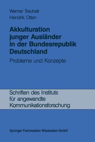 Akkulturation junger Ausländer in der Bundesrepublik Deutschland - Coverbild