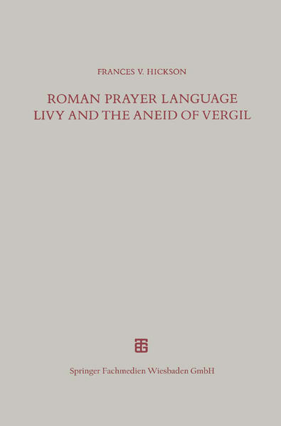 Roman Prayer Language Livy and the Aneid of Vergil - Coverbild