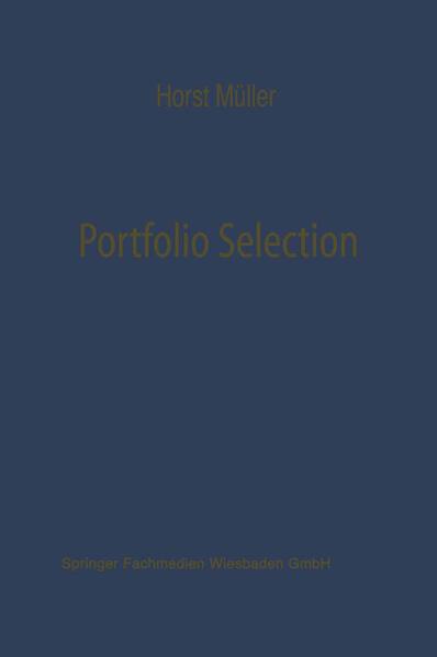 Portfolio Selection als Entscheidungsmodell deutscher Investmentgesellschaften - Coverbild