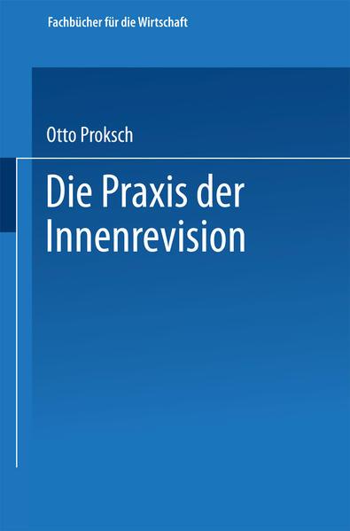 Die Praxis der Innenrevision - Coverbild