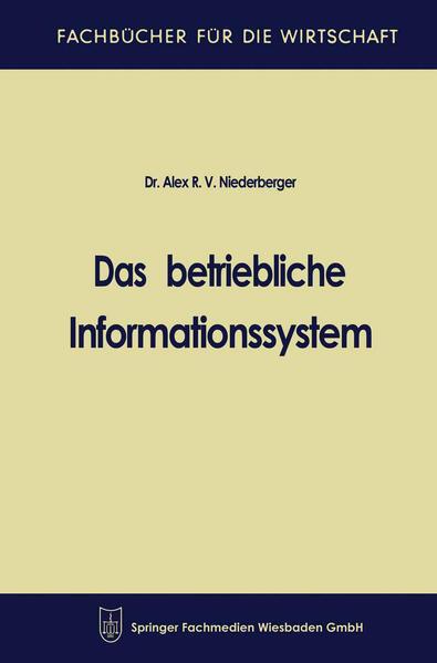 Das betriebliche Informationssystem - Coverbild
