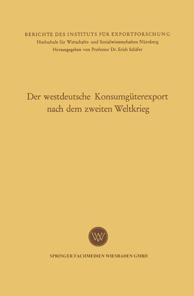 Der westdeutsche Konsumgüterexport nach dem zweiten Weltkrieg - Coverbild
