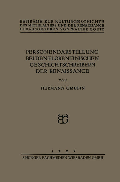 Personendarstellung bei den Florentinischen Geschichtschreibern der Renaissance - Coverbild