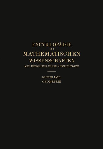 Encyklopädie der Mathematischen Wissenschaften mit Einschluss ihrer Anwendungen - Coverbild