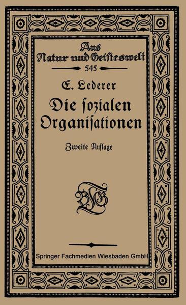 Die Sozialen Organisationen - Coverbild