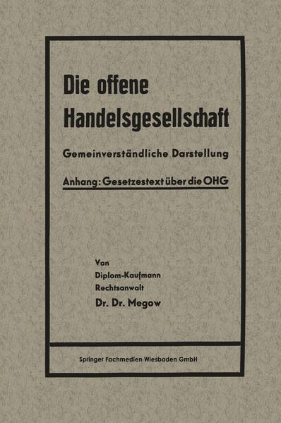 Die offene Handelsgesellschaft (OHG) - Coverbild
