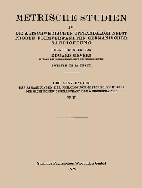 Metrische Studien - Coverbild