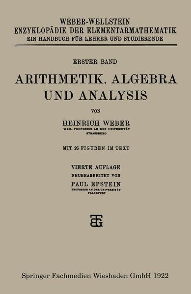 Arithmetik, Algebra und Analysis - Coverbild