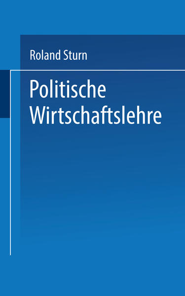 Politische Wirtschaftslehre - Coverbild