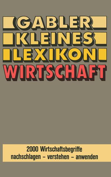 Gabler Kleines Lexikon Wirtschaft - Coverbild