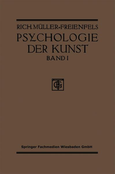 Allgemeine Grundlegung und Psychologie des Kunstgeniessens - Coverbild