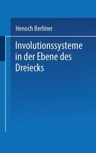 Involutionssysteme in der Ebene des Dreiecks - Coverbild