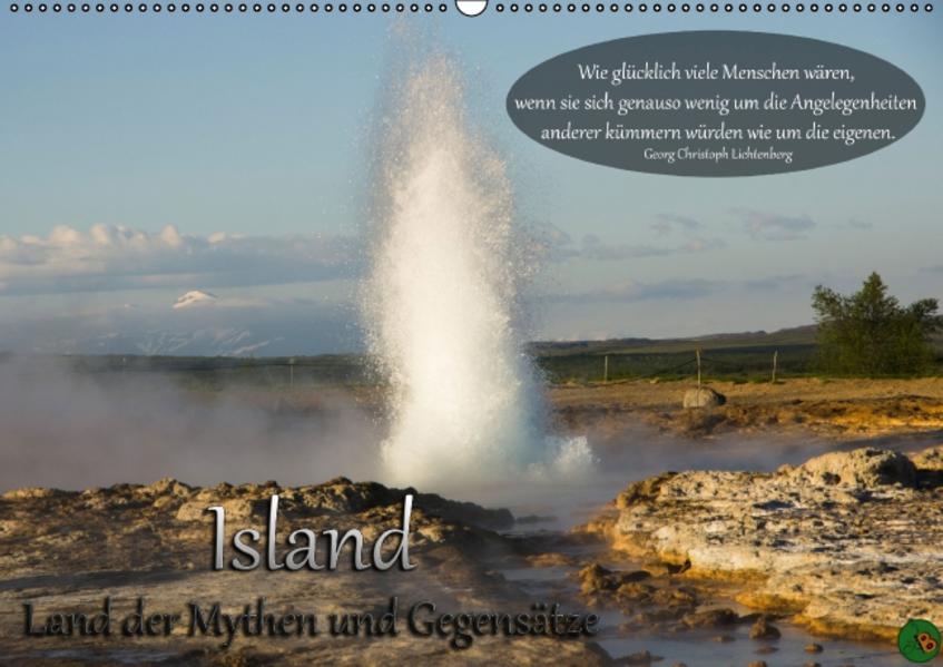 Island - Land der Mythen und Gegensätze (Wandkalender 2015 DIN A2 quer) - Coverbild