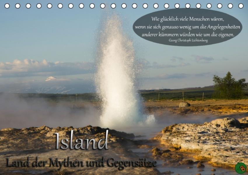 Island - Land der Mythen und Gegensätze (Tischkalender 2015 DIN A5 quer) - Coverbild