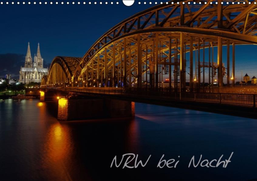 NRW bei Nacht (Wandkalender 2016 DIN A3 quer) - Coverbild
