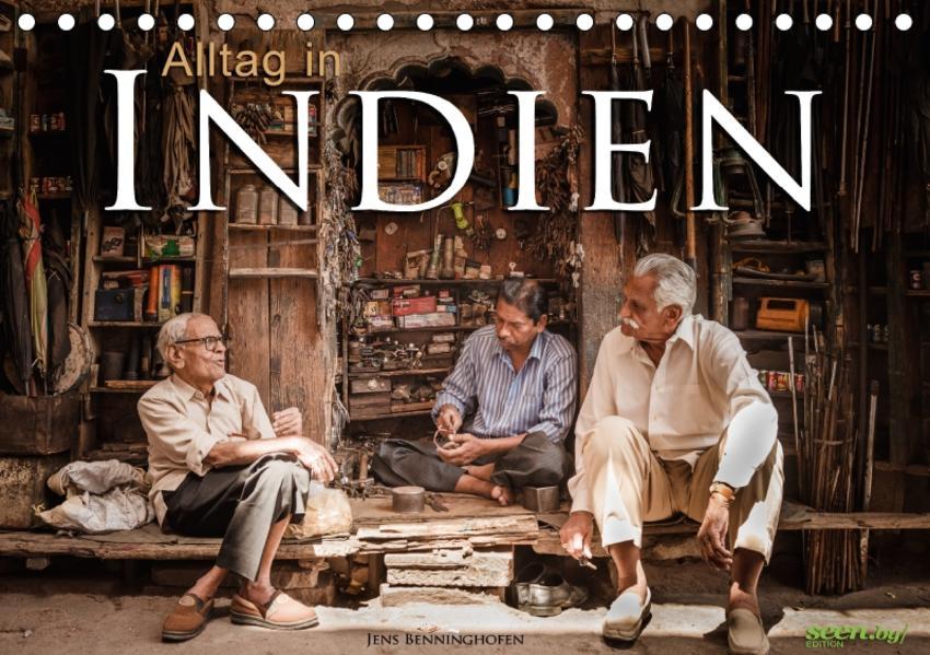 Alltag in Indien (Tischkalender 2017 DIN A5 quer) - Coverbild