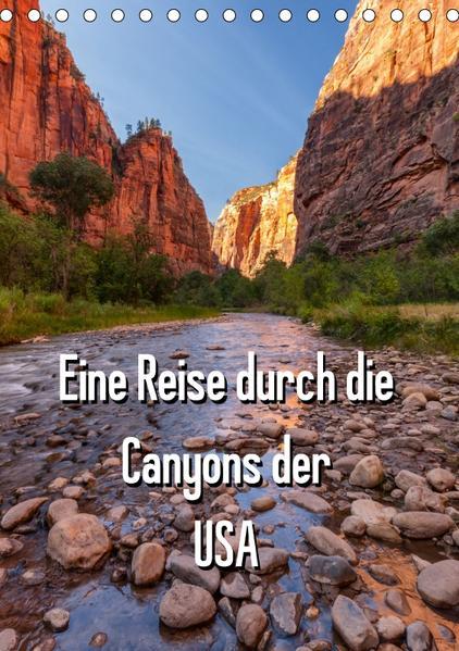 Eine Reise durch die Canyons der USA (Tischkalender 2017 DIN A5 hoch) - Coverbild
