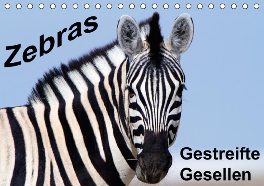 Zebras - Gestreifte Gesellen (Tischkalender 2017 DIN A5 quer) - Coverbild
