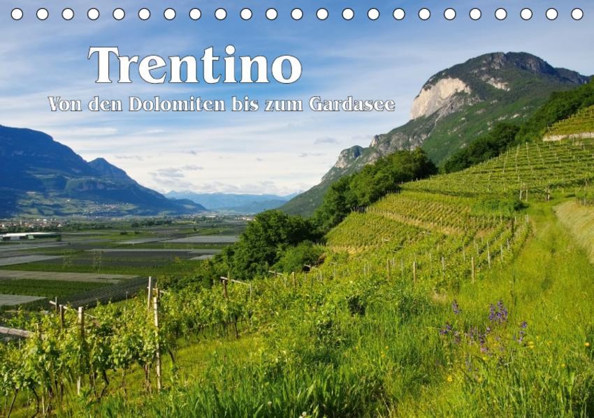 Trentino - Von den Dolomiten bis zum Gardasee (Tischkalender 2017 DIN A5 quer) - Coverbild