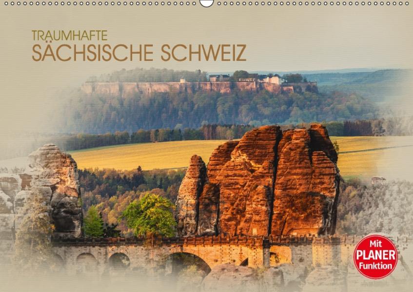 Traumhafte Sächsische Schweiz (Wandkalender 2017 DIN A2 quer) - Coverbild