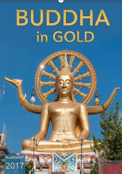 BUDDHA in GOLD (Wandkalender 2017 DIN A2 hoch) - Coverbild