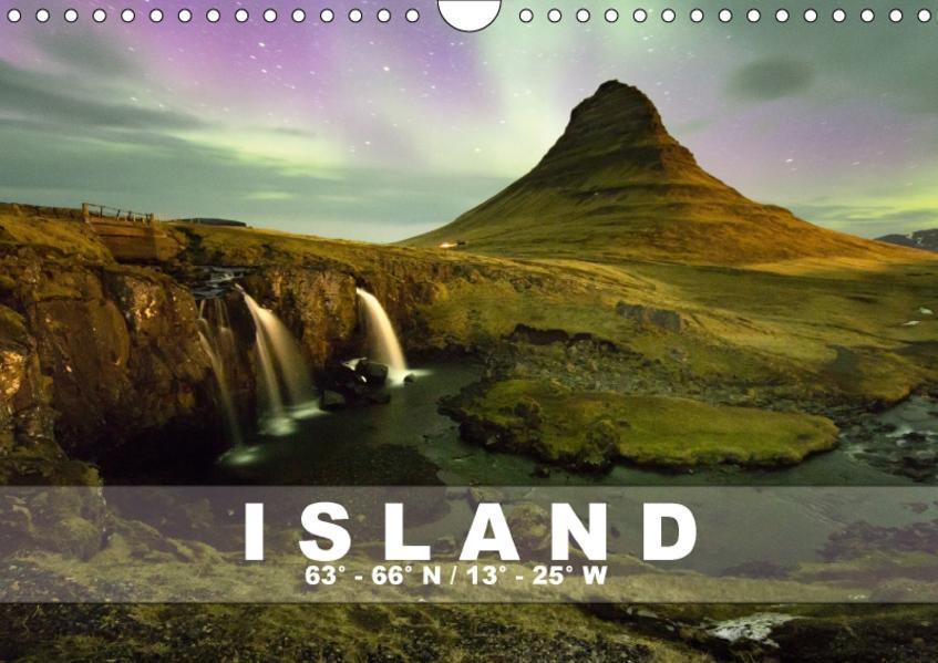 ISLAND  63° - 66° N /  13° - 25° W (Wandkalender 2017 DIN A4 quer) - Coverbild