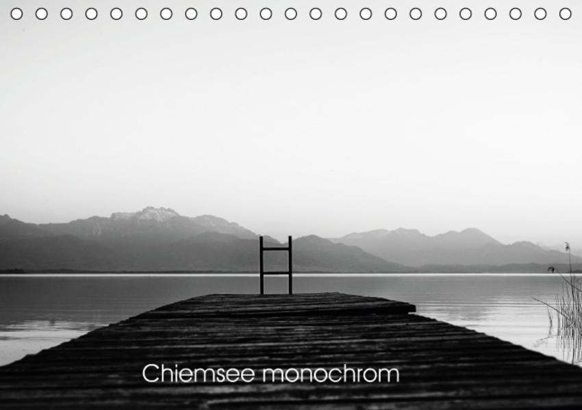 Chiemsee monochrom (Tischkalender 2017 DIN A5 quer) - Coverbild