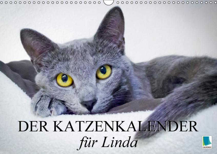 Der Katzenkalender für Linda (Wandkalender 2017 DIN A3 quer) - Coverbild