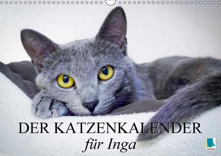 Der Katzenkalender für Inga (Wandkalender 2017 DIN A3 quer) - Coverbild