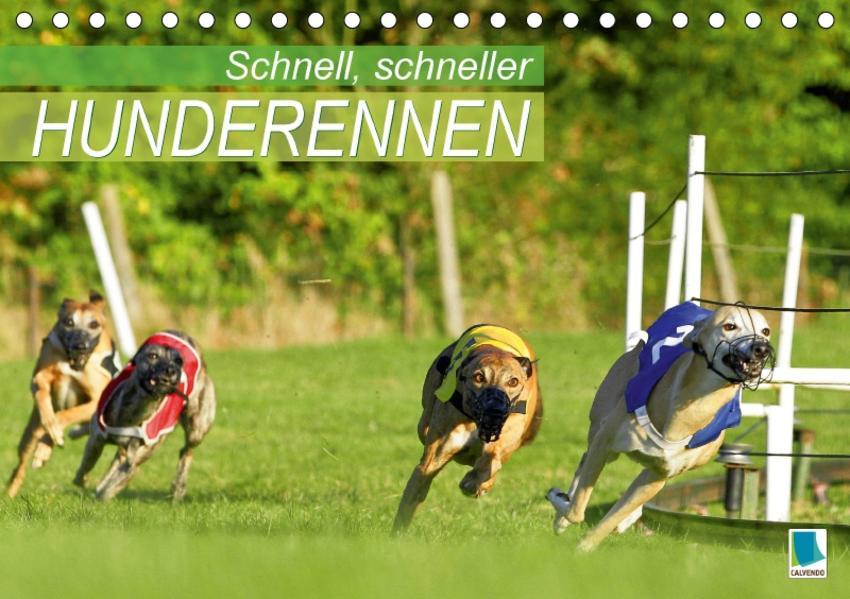 Schnell, schneller – Hunderennen (Tischkalender 2017 DIN A5 quer) - Coverbild