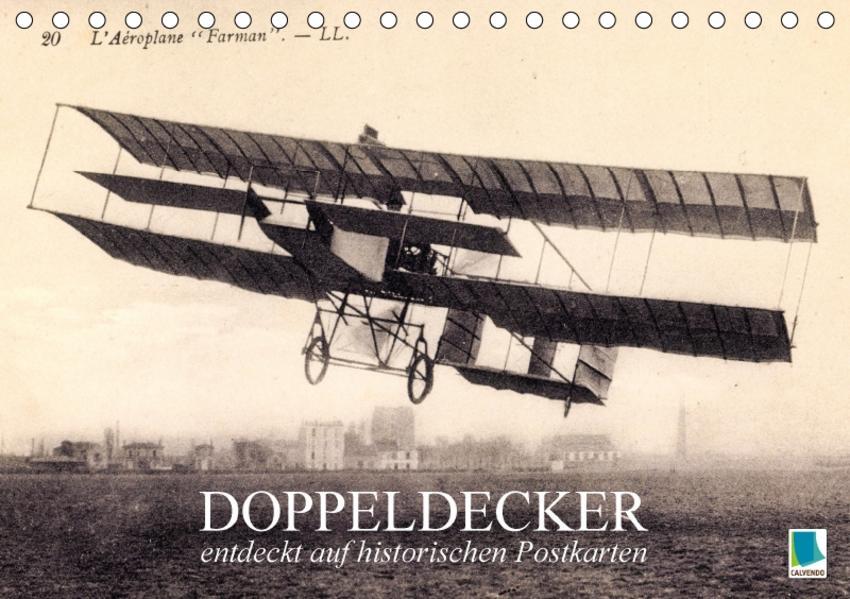Doppeldecker entdeckt auf historischen Postkarten (Tischkalender 2017 DIN A5 quer) - Coverbild