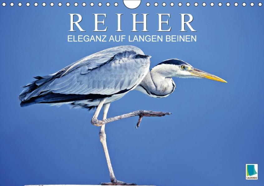 Reiher: Eleganz auf langen Beinen (Wandkalender 2017 DIN A4 quer) - Coverbild