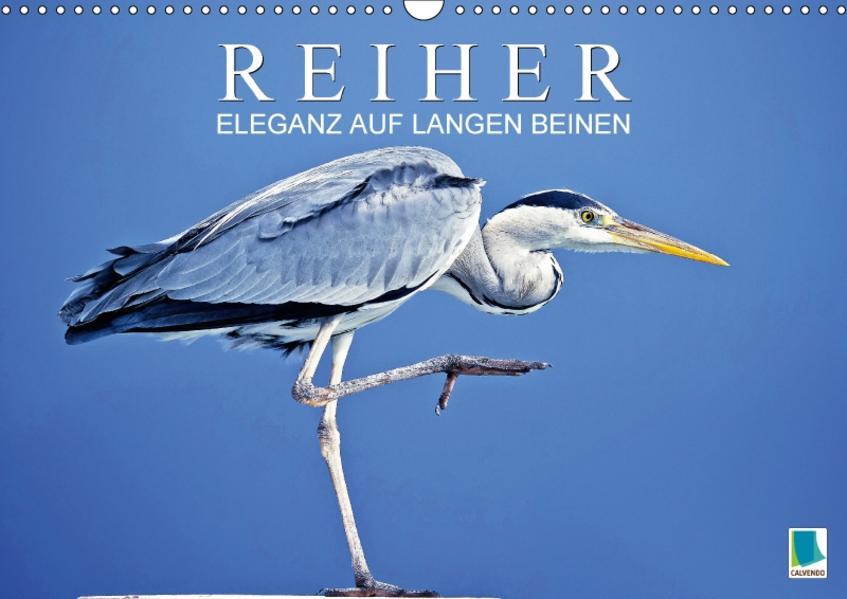 Reiher: Eleganz auf langen Beinen (Wandkalender 2017 DIN A3 quer) - Coverbild